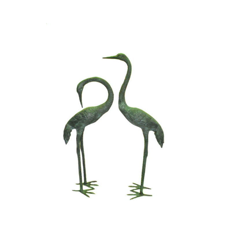 SRB700732-Bronze-Standing-Crane-Sculpture-Pair-by-Metropolitan-Galleries-Inc