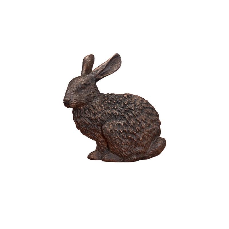SRB752230 Bronze Sitting Hare Sculpture by Metropolitan Galleries Inc