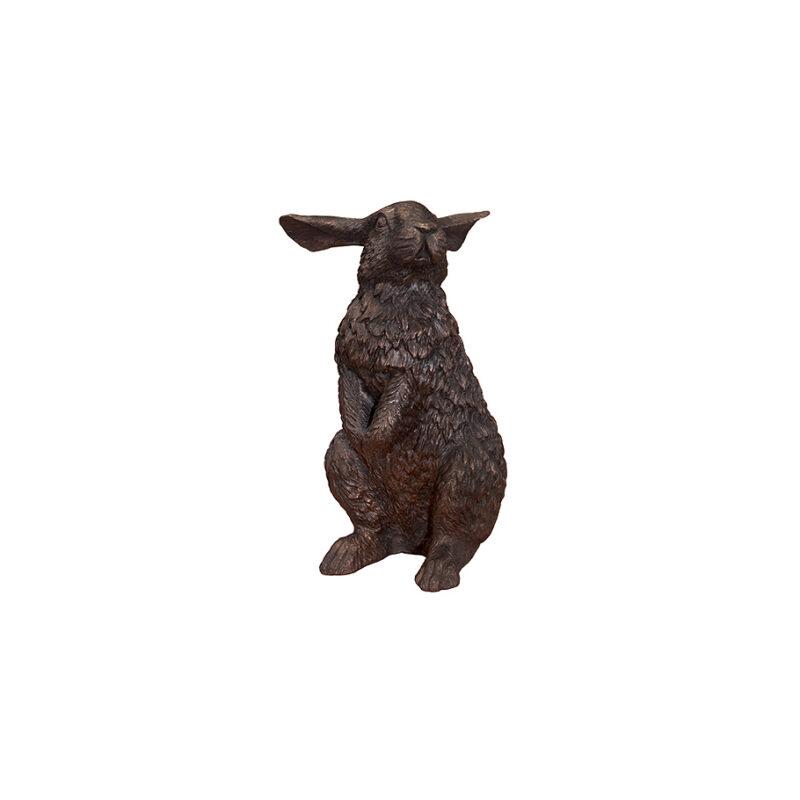 SRB752231 Bronze Standing Hare Sculpture by Metropolitan Galleries Inc