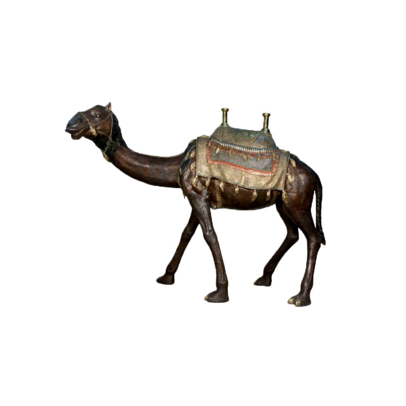 SRB028985 Bronze Saddled Camel Sculpture by Metropolitan Galleries Inc