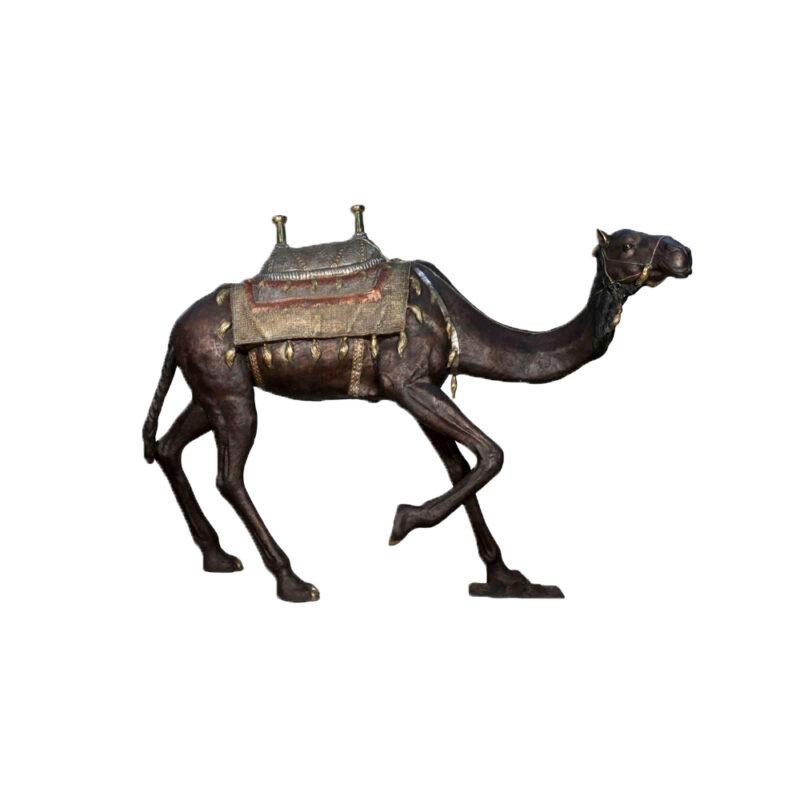 SRB028989 Bronze Egyptian Camel Sculpture by Metropolitan Galleries Inc