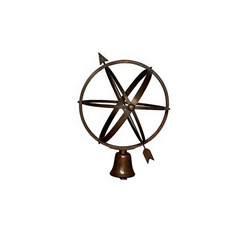 SRB062027 Bronze Globe Sundial Sculpture by Metropolitan Galleries Inc