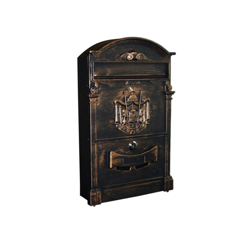 INM200 Iron Classical Wall Mount Mailbox by Metropolitan Galleries Inc