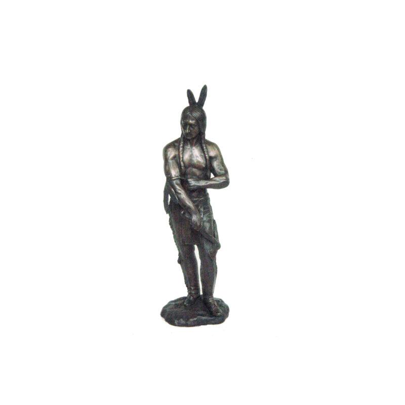 SRB703752 Bronze Standing Indian Sculpture by Metropolitan Galleries Inc