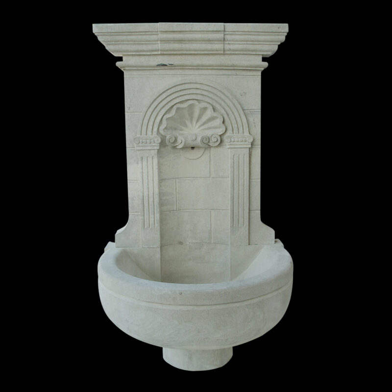 JBF2016 Stone Classical Wall Fountain in Sandstone by Metropolitan Galleries Inc