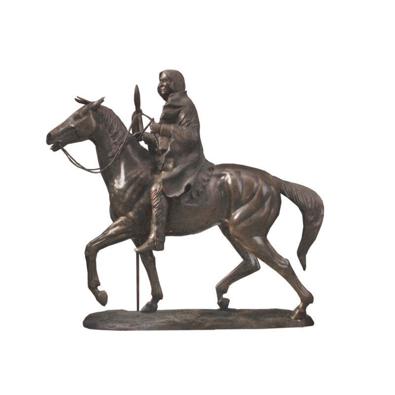 SRB705428 Bronze Indian Scout on Horse Sculpture by Metropolitan Galleries Inc