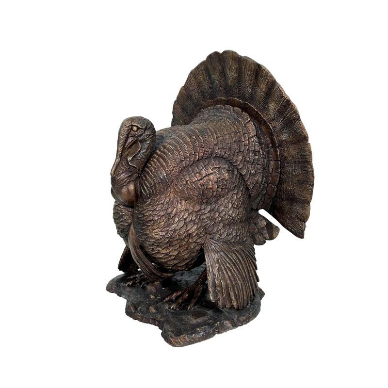 SRB10123 Bronze Turkey Sculpture by Metropolitan Galleries Inc 1