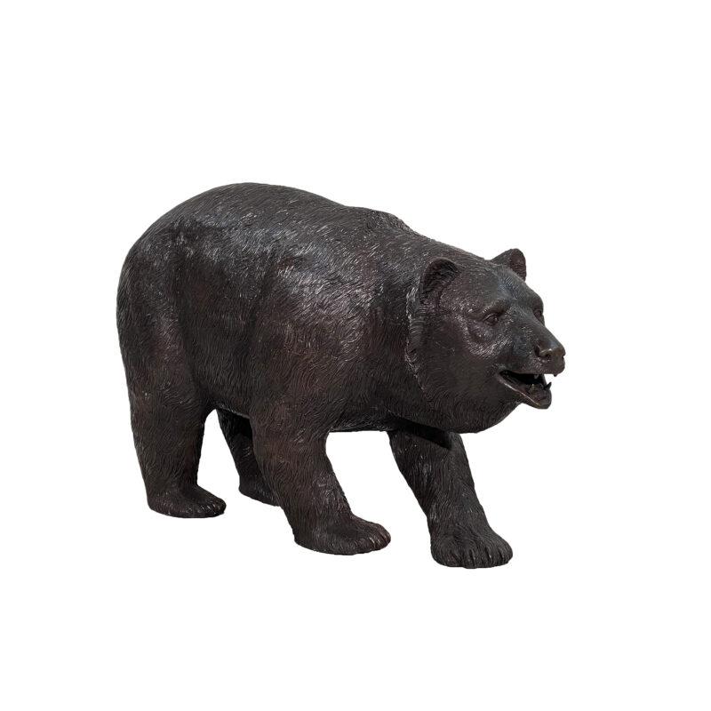 SRB48214 Bronze Small Walking Bear Sculpture by Metropolitan Galleries Inc