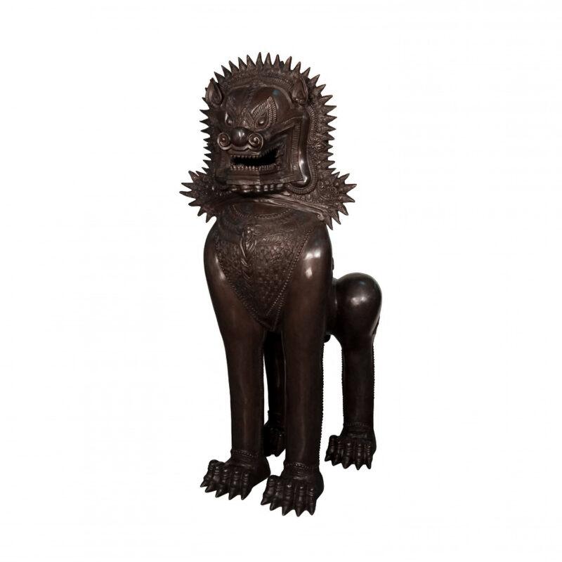 SRB0019692 Bronze Thai Lion Sculpture by Metropolitan Galleries Inc