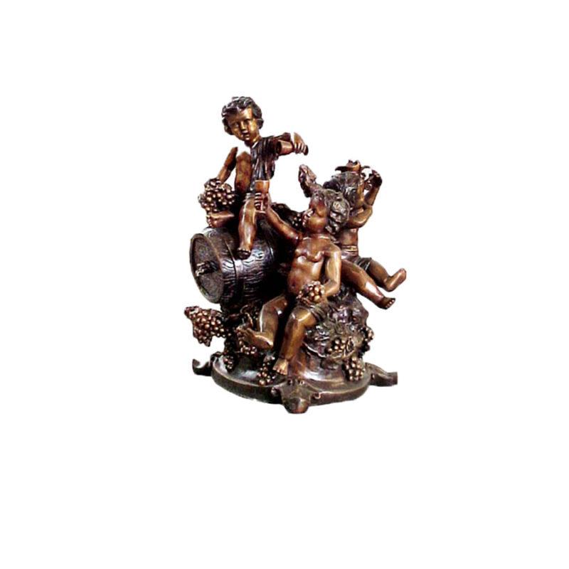 SRB351007 Bronze Three Boys Wine Festival Sculpture by Metropolitan Galleries Inc