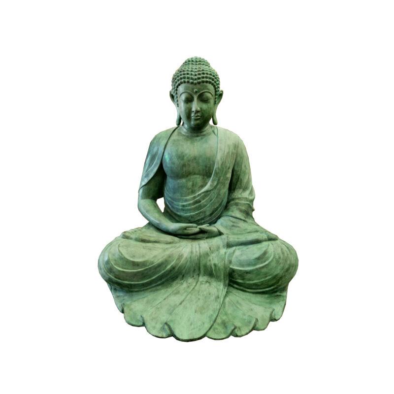 SRB704187 Bronze Big Buddha Sculpture by Metropolitan Galleries Inc